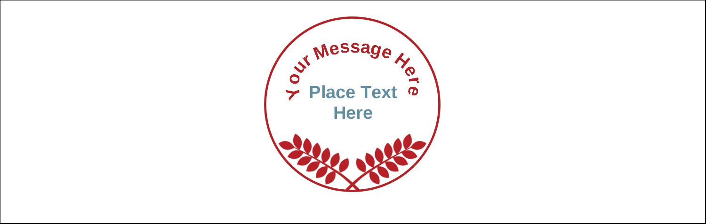 "3½"" x 11"" Tent Card - Grey Red Foliage"