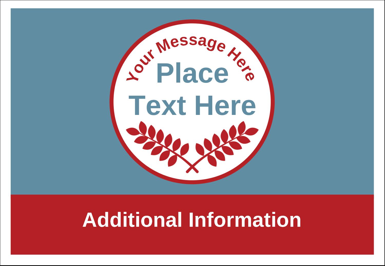 "3⅜"" x 2⅓"" Name Badge - Grey Red Foliage"