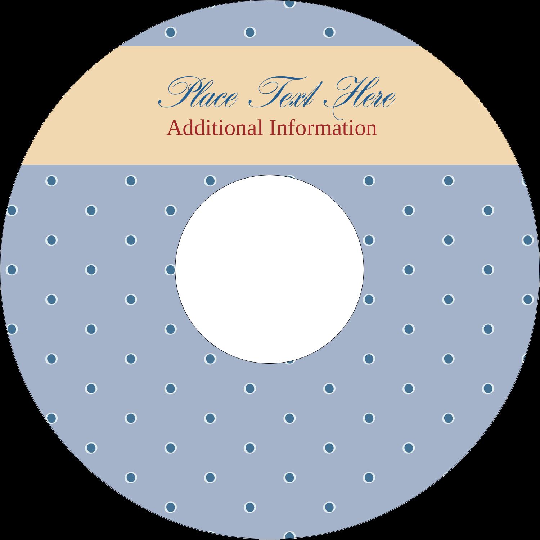 "4.65"" CD-DVD Label - Blue Dots"