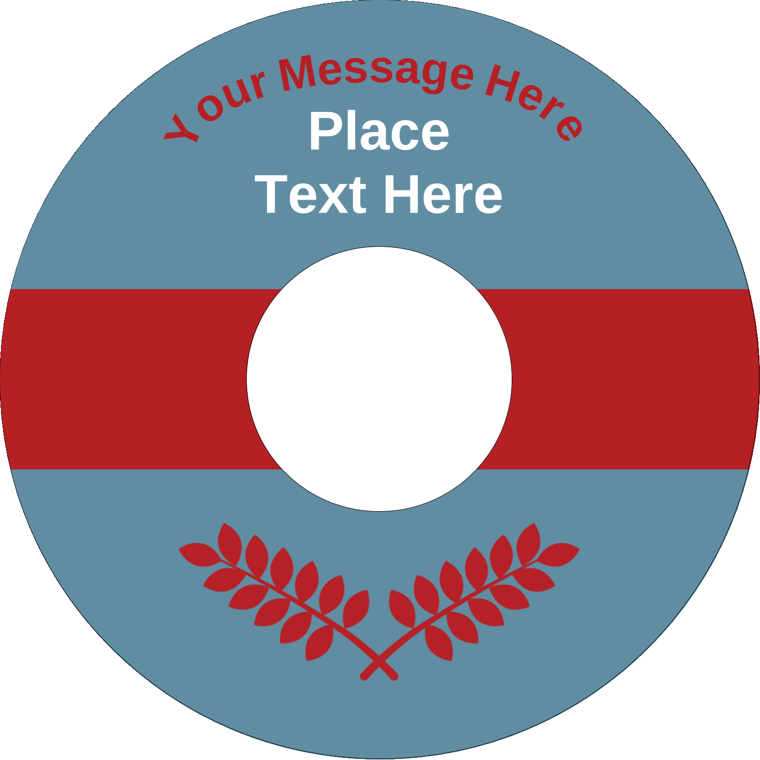 "4.65"" CD-DVD Label - Grey Red Foliage"