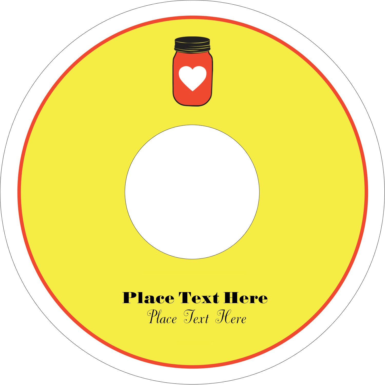 """4.65"""" CD-DVD Label - Canned"""