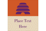 Attract attention to your project with sweet pre-designed Beehive Purple templates.