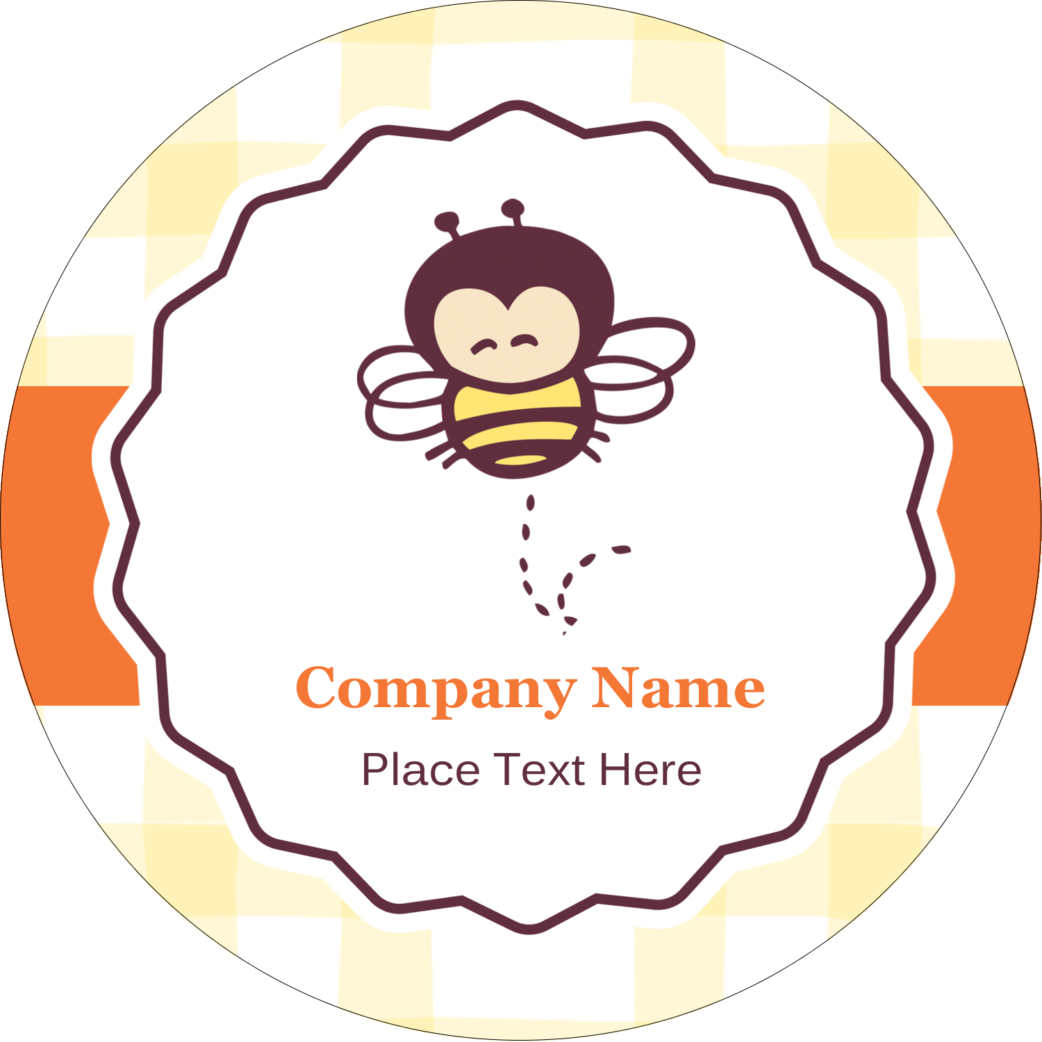 """2½"""" Round Label - Busy Bee"""