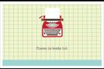 Machine à écrire Cartes Et Articles D'Artisanat Imprimables - gabarit prédéfini. <br/>Utilisez notre logiciel Avery Design & Print Online pour personnaliser facilement la conception.