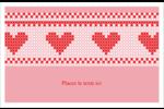 Saint-Valentin en point de croix Cartes Et Articles D'Artisanat Imprimables - gabarit prédéfini. <br/>Utilisez notre logiciel Avery Design & Print Online pour personnaliser facilement la conception.