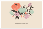 Jardin exotique Cartes de souhaits pliées en deux - gabarit prédéfini. <br/>Utilisez notre logiciel Avery Design & Print Online pour personnaliser facilement la conception.
