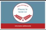 Feuillage rouge et gris Cartes Et Articles D'Artisanat Imprimables - gabarit prédéfini. <br/>Utilisez notre logiciel Avery Design & Print Online pour personnaliser facilement la conception.