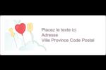Ballon d'amour de Saint-Valentin Étiquettes d'adresse - gabarit prédéfini. <br/>Utilisez notre logiciel Avery Design & Print Online pour personnaliser facilement la conception.