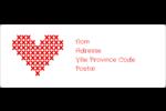Saint-Valentin en point de croix Étiquettes d'adresse - gabarit prédéfini. <br/>Utilisez notre logiciel Avery Design & Print Online pour personnaliser facilement la conception.