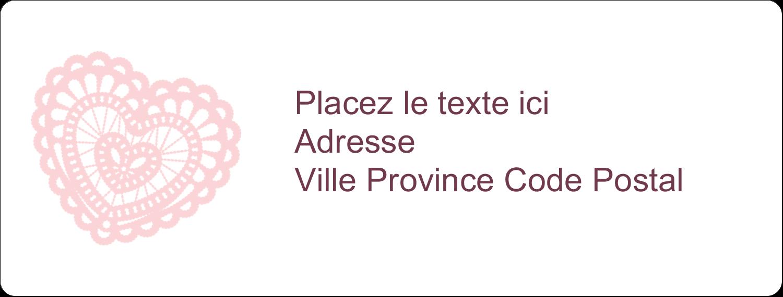 """1"""" x 4"""" Étiquettes d'adresse - Saint-Valentin au crochet"""