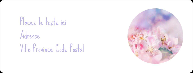"""1"""" x 4"""" Étiquettes d'adresse - Arrangement floral"""