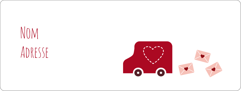 """1"""" x 4"""" Étiquettes d'adresse - Saint-Valentin par la poste"""