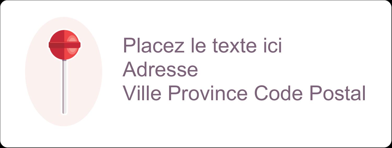 """1"""" x 4"""" Étiquettes d'adresse - Sucette de Saint-Valentin"""