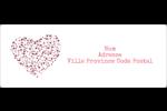 Amas en cœur Étiquettes d'adresse - gabarit prédéfini. <br/>Utilisez notre logiciel Avery Design & Print Online pour personnaliser facilement la conception.