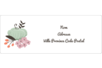 Jardin exotique Étiquettes d'adresse - gabarit prédéfini. <br/>Utilisez notre logiciel Avery Design & Print Online pour personnaliser facilement la conception.