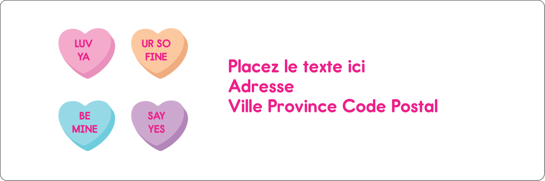 """8½"""" x 11"""" Intercalaires / Onglets - Bonbon en cœur de Saint-Valentin"""