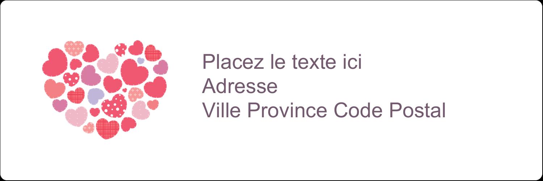 "8½"" x 11"" Intercalaires / Onglets - Courtepointe en cœur"