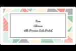 Mosaïque tangram rose et verte  Étiquettes de classement écologiques - gabarit prédéfini. <br/>Utilisez notre logiciel Avery Design & Print Online pour personnaliser facilement la conception.
