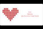 Saint-Valentin en point de croix Étiquettes de classement écologiques - gabarit prédéfini. <br/>Utilisez notre logiciel Avery Design & Print Online pour personnaliser facilement la conception.