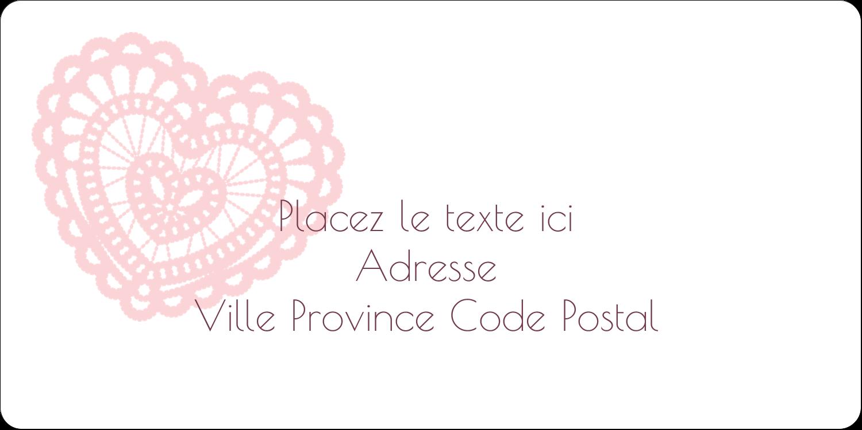 """3-7/16"""" x ⅔"""" Étiquettes de classement écologiques - Saint-Valentin au crochet"""