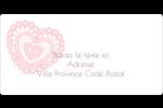 Saint-Valentin au crochet Étiquettes de classement écologiques - gabarit prédéfini. <br/>Utilisez notre logiciel Avery Design & Print Online pour personnaliser facilement la conception.