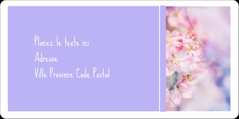 """3-7/16"""" x ⅔"""" Étiquettes de classement écologiques - Arrangement floral"""