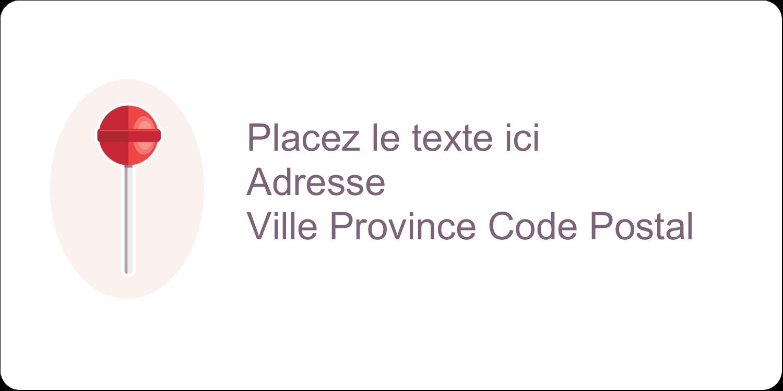 """3-7/16"""" x ⅔"""" Étiquettes de classement écologiques - Sucette de Saint-Valentin"""