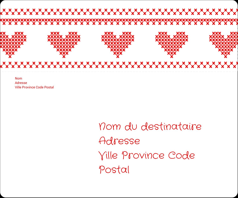 """½"""" x 1¾"""" Étiquettes D'Adresse - Saint-Valentin en point de croix"""