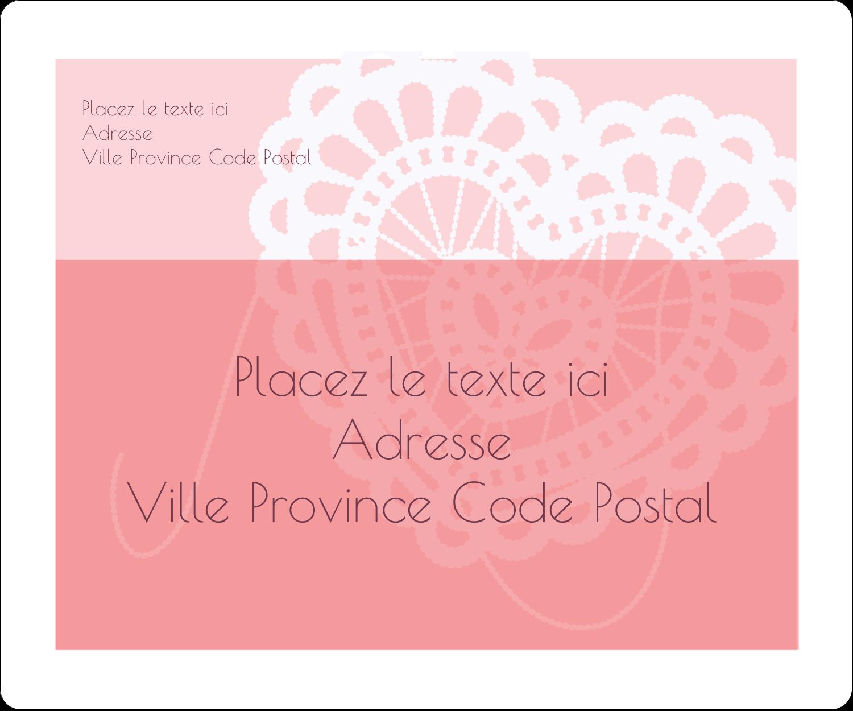 """½"""" x 1¾"""" Étiquettes D'Adresse - Saint-Valentin au crochet"""