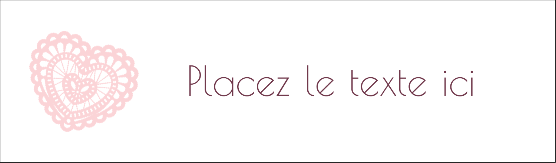 """3½"""" x 11"""" Affichette - Saint-Valentin au crochet"""