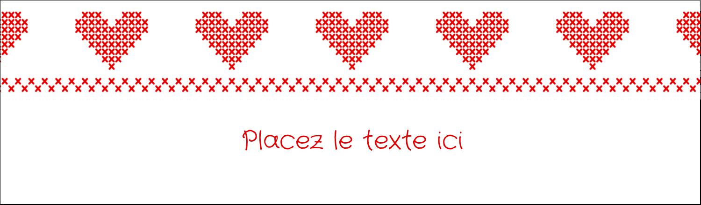 """3½"""" x 11"""" Affichette - Saint-Valentin en point de croix"""