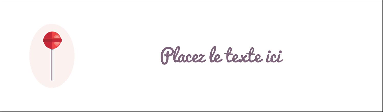 """3½"""" x 11"""" Affichette - Sucette de Saint-Valentin"""