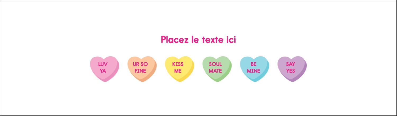 """3½"""" x 11"""" Affichette - Bonbon en cœur de Saint-Valentin"""