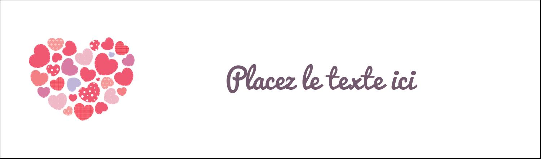 """3½"""" x 11"""" Affichette - Courtepointe en cœur"""