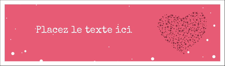 """3½"""" x 11"""" Affichette - Amas en cœur"""