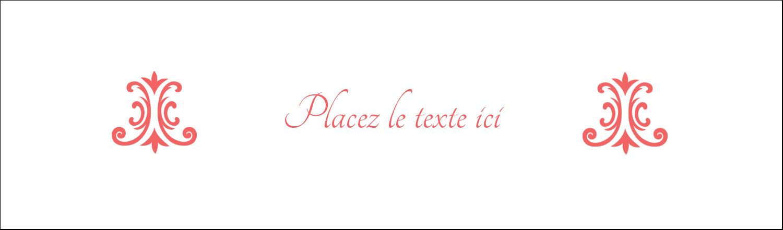 """3½"""" x 11"""" Affichette - Élégance et mariage"""