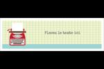 Machine à écrire Cartes de notes - gabarit prédéfini. <br/>Utilisez notre logiciel Avery Design & Print Online pour personnaliser facilement la conception.