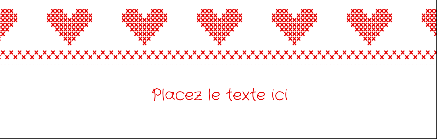 "4¼"" x 5½"" Carte de note - Saint-Valentin en point de croix"