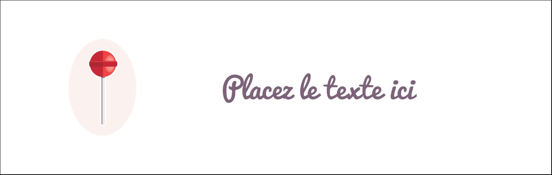 """4¼"""" x 5½"""" Carte de note - Sucette de Saint-Valentin"""