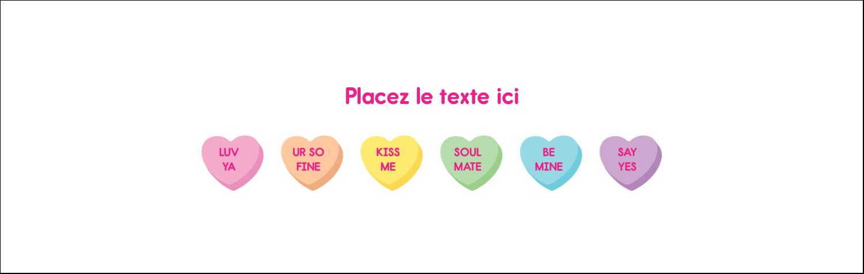 """4¼"""" x 5½"""" Carte de note - Bonbon en cœur de Saint-Valentin"""