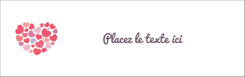 """4¼"""" x 5½"""" Carte de note - Courtepointe en cœur"""