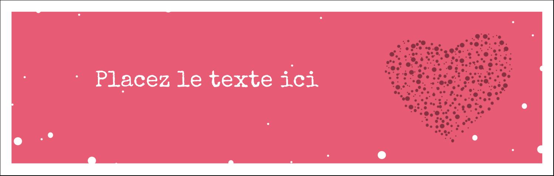 """4¼"""" x 5½"""" Carte de note - Amas en cœur"""