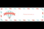 Ballon bleu Cartes de notes - gabarit prédéfini. <br/>Utilisez notre logiciel Avery Design & Print Online pour personnaliser facilement la conception.