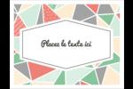 Mosaïque tangram rose et verte  Cartes Et Articles D'Artisanat Imprimables - gabarit prédéfini. <br/>Utilisez notre logiciel Avery Design & Print Online pour personnaliser facilement la conception.