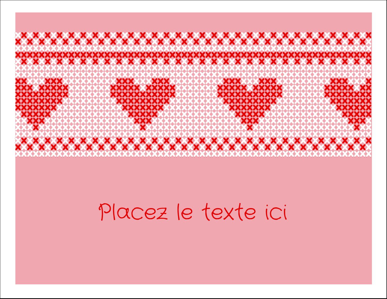 """8½"""" x 11"""" Cartes Et Articles D'Artisanat Imprimables - Saint-Valentin en point de croix"""