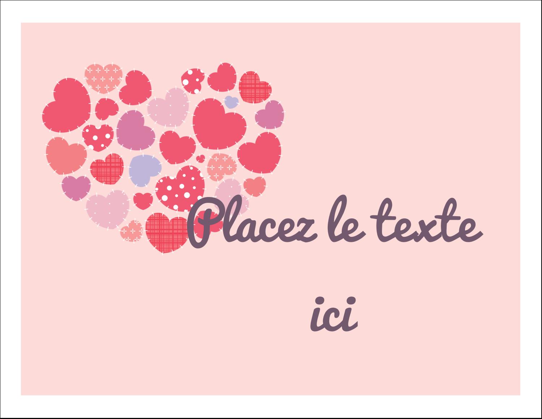 """8½"""" x 11"""" Cartes Et Articles D'Artisanat Imprimables - Courtepointe en cœur"""