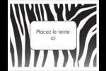 Imprimé zébré Cartes Et Articles D'Artisanat Imprimables - gabarit prédéfini. <br/>Utilisez notre logiciel Avery Design & Print Online pour personnaliser facilement la conception.