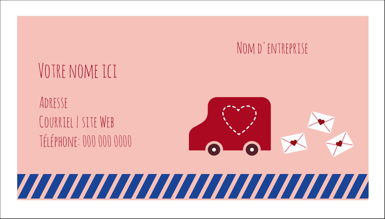"""2"""" x 3½"""" Carte d'affaire - Saint-Valentin par la poste"""