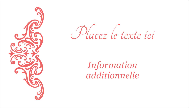 """2"""" x 3½"""" Carte d'affaire - Élégance et mariage"""