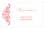 Élégance et mariage Carte d'affaire - gabarit prédéfini. <br/>Utilisez notre logiciel Avery Design & Print Online pour personnaliser facilement la conception.